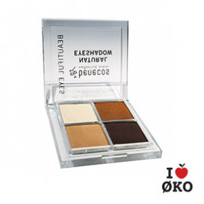 benecos Quattro Eyeshadow - Coffee & Cream (økologisk)
