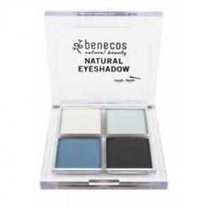 benecos Quattro Eyeshadow - True Blue (økologisk)