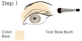 Smokey Eyes step guide - step 1